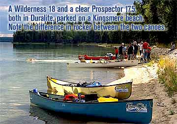 Souris River Wilderness 18 and Prospector 17.5 Duralite Canoes