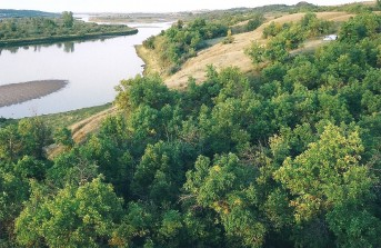 South Saskatchewan River valley
