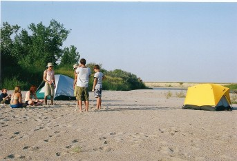 South Saskatchewan River sandbar beach