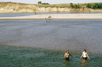 Swimming in the South Saskatchewan