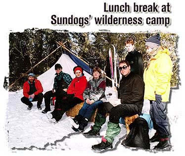 Lunch break at Sundog's wilderness camp