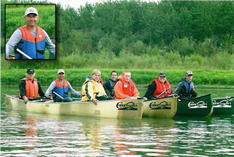 Historic River Trails canoe tour on the South Saskatchewan River