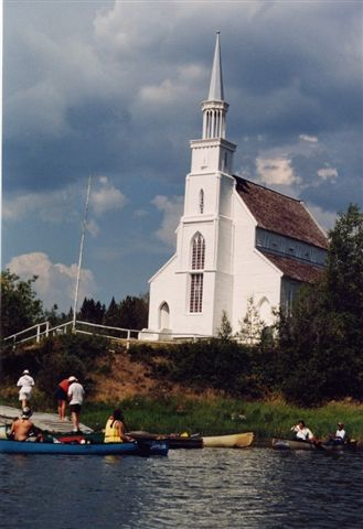 Stanley Mission Church on the Churchill River