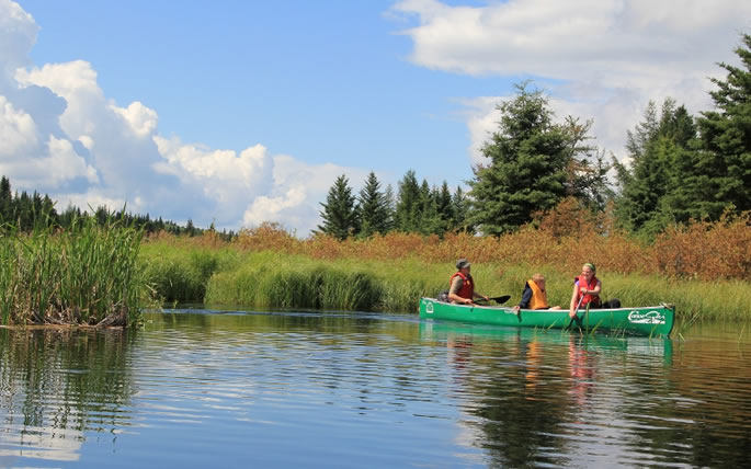 Canoeing the Spruce River in Prince Albert National Park