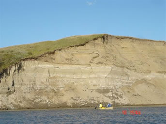 South Saskatchewan River sand cliffs