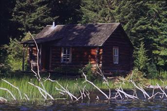 Grey Owl's cabin in Prince Albert National Park