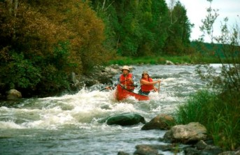 Whitewater paddling on the Paull River, northern Saskatchewan