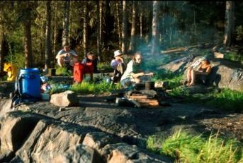 Corner Rapids campsite, Churchill River, northern Saskatchewan