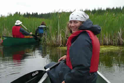 Paddling the Spruce River in Prince Albert National Park