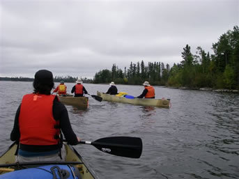canoeing on the Churchill River