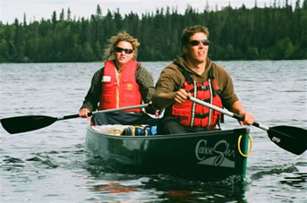 Canoeing on Lac La Ronge in northern Saskatchewan