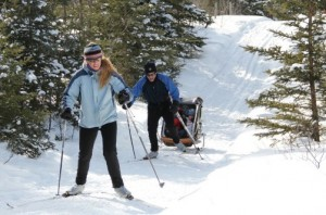 Cross-country skiing at Eb's Trails