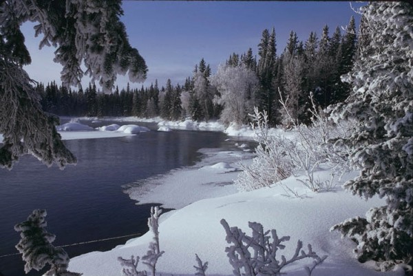 Rapid River above Nistowiak Falls, Churchill River