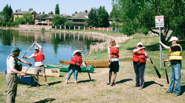 Canoe lessons at Lakeview Lake