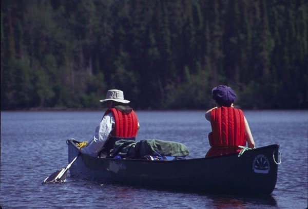 Paddlers on the Women and Waves trip on the Churchill River