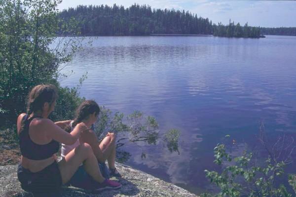 Massage accompanies the Women and Waves canoe trip