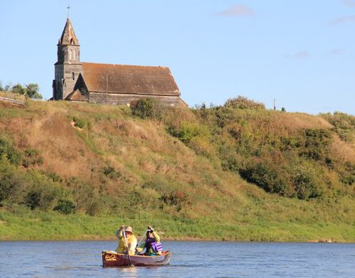 Old Fish Creek Church on the South Saskatchewan River
