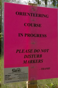 CanoeSki orienteering course sign