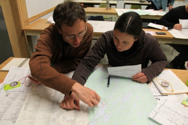 CanoeSki orienteering course map exercise
