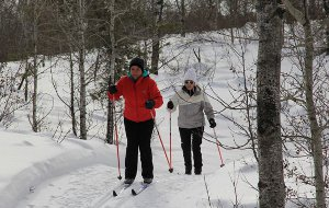 Skiing at Eb's Trails