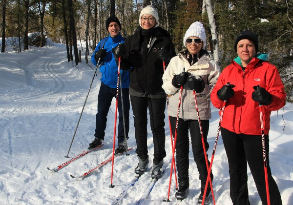 Learn to Ski students at Eb's Trails
