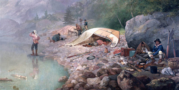 Francis Hopkins voyageur camp painting