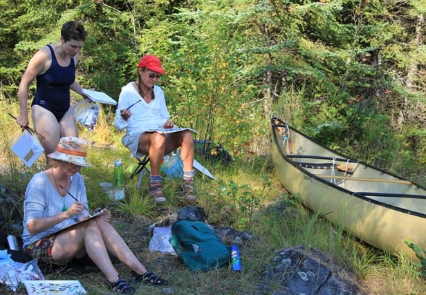 Canoeing and Painting on Sulphide Lake