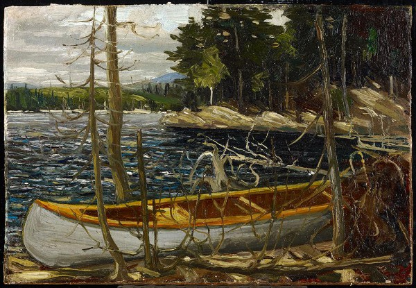 Tom Thomson painting of his canoe