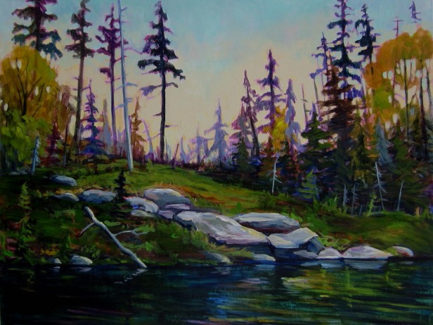 View From the Canoe, painting by Nicki Ault