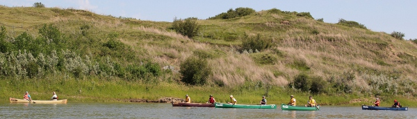 Canoeing the South Saskatchewan River