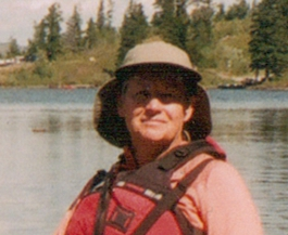 Jan on canoe trip