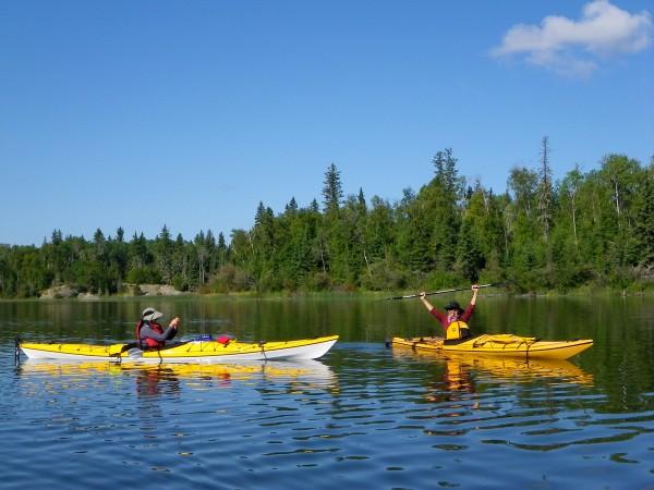 Kayaking on Churchill River