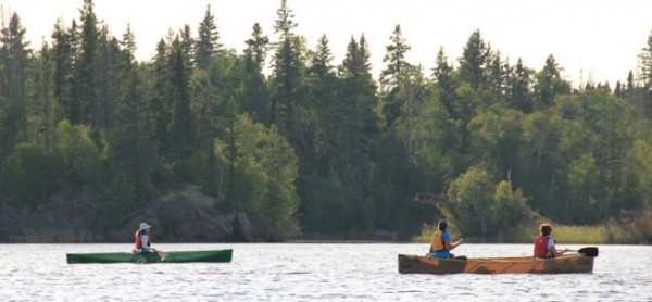 Kevlar canoes on Churchill River