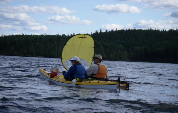 Kayaking on Churchill River