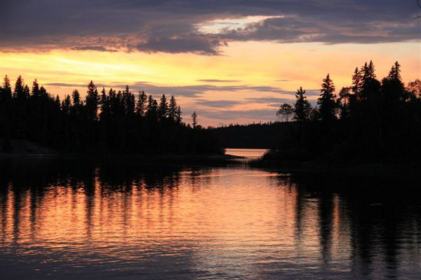 Sunset on Churchill River