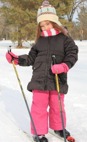 Young skier in Kinsmen Park