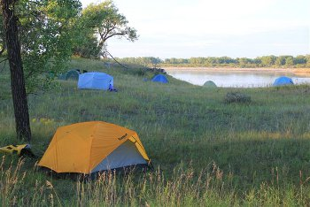 Campsite on South Sask River