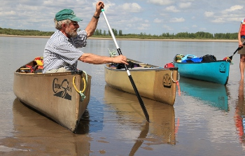 Canoeing instruction on the South Sask River