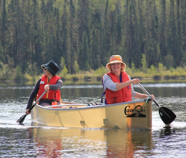 Canoeing on Sulphide Lake in Lac La Ronge Prov. Park