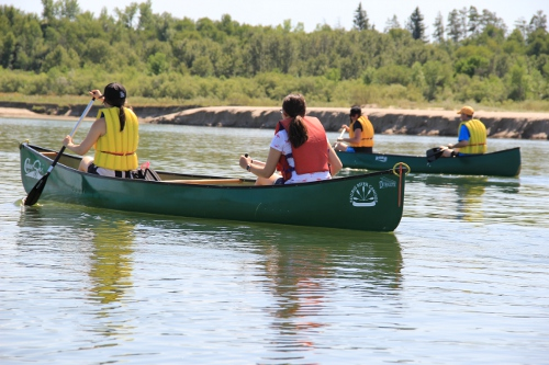 canoeing on the South Saskatchewan River