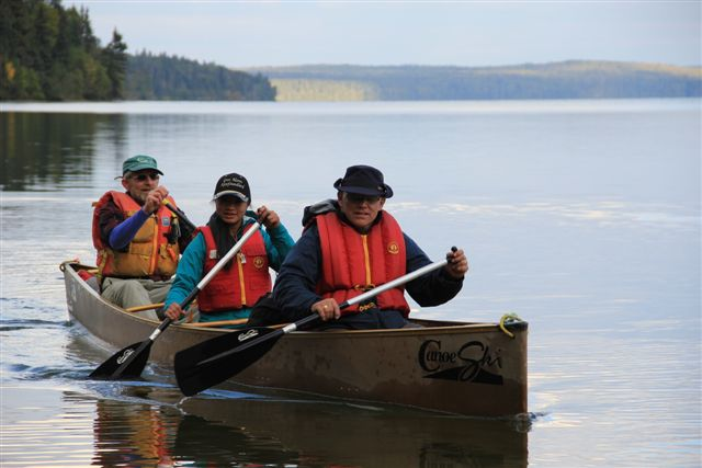 Grey Owl canoe trip on Kingsmere Lake