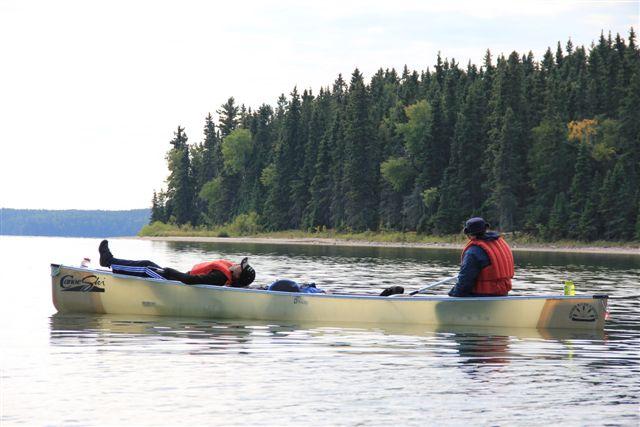 Canoeing Kingsmere Lake