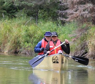 Canoeing Kingsmere River