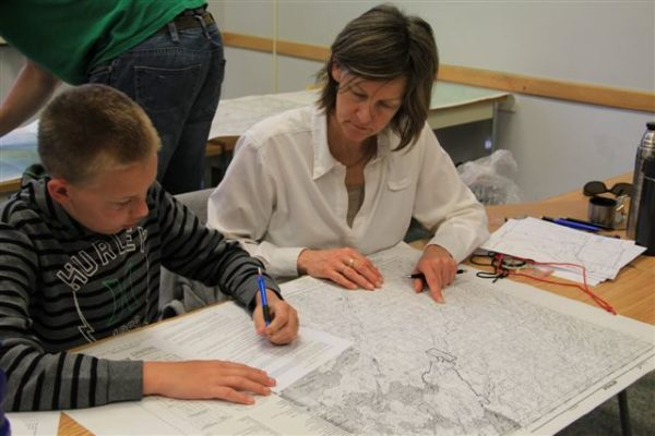 canoeski map and compass course